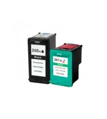 Komplet kartuš HP št. 350XL (BK) + 351XL (CMY), KOMPATIBILNA