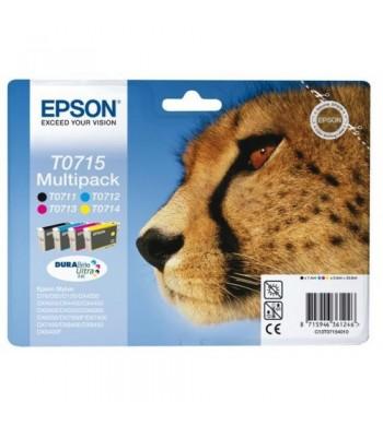 Komplet kartuš Epson T0715 BK/C/M/Y